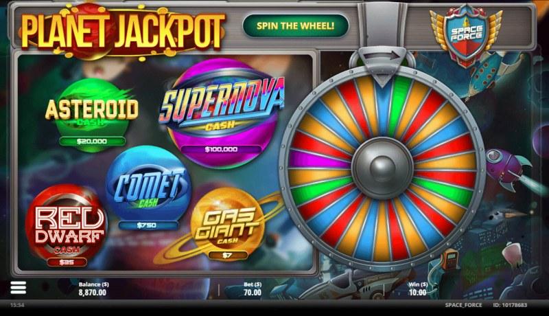 Space Force :: Bonus Wheel