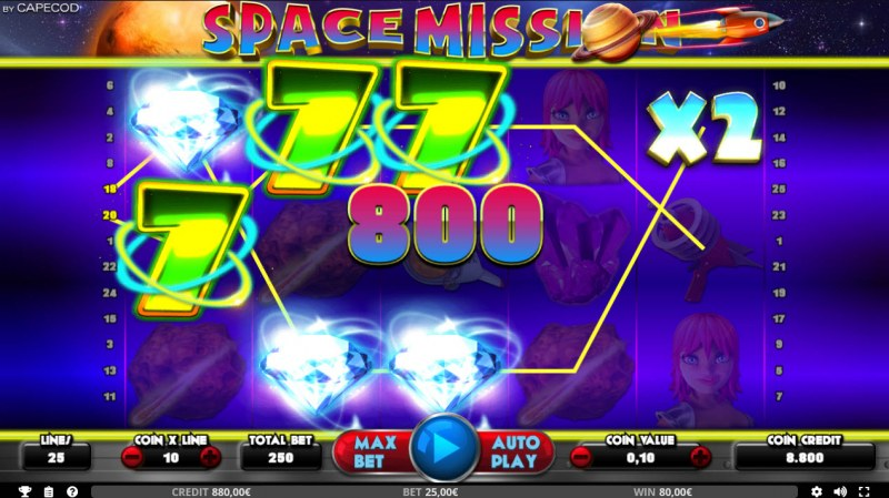Space Mission :: Multiple winning paylines