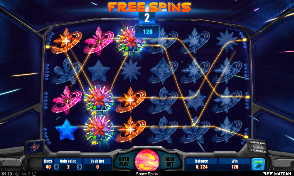 Space Spins :: Multiple winning combinations