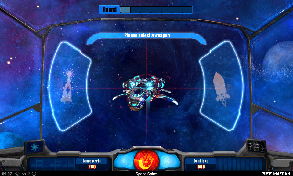 Space Spins :: Gamble Feature Game Board