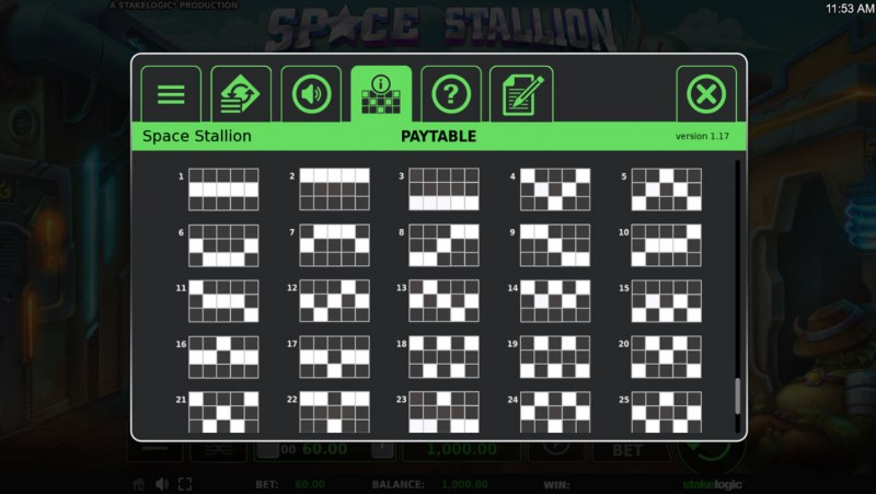 Space Stallion :: Paylines 1-25