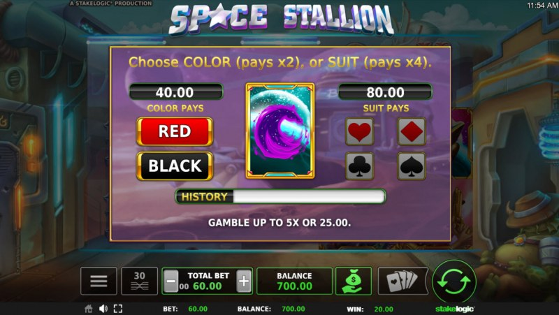Space Stallion :: Free Spins Game Board
