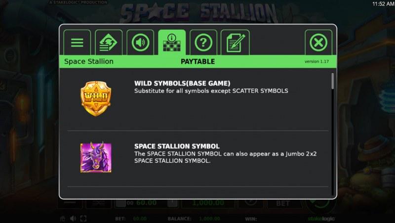 Space Stallion :: Wild Symbols Rules