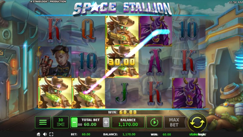 Space Stallion :: Three of a kind win