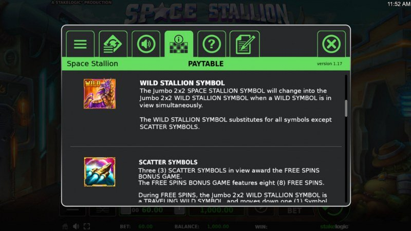 Space Stallion :: Wild and Scatter Rules