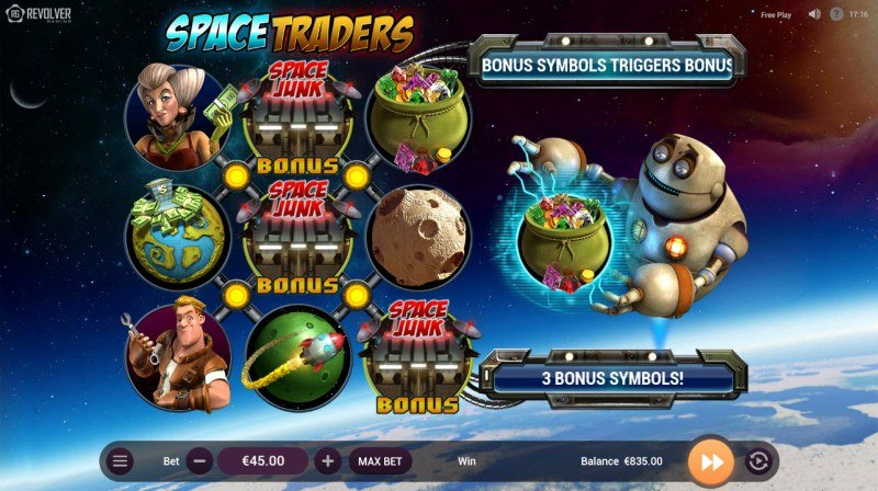 Space Traders :: Scatter symbols triggers bonus feature