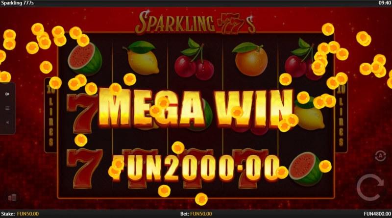 Sparkling 777s :: Mega Win