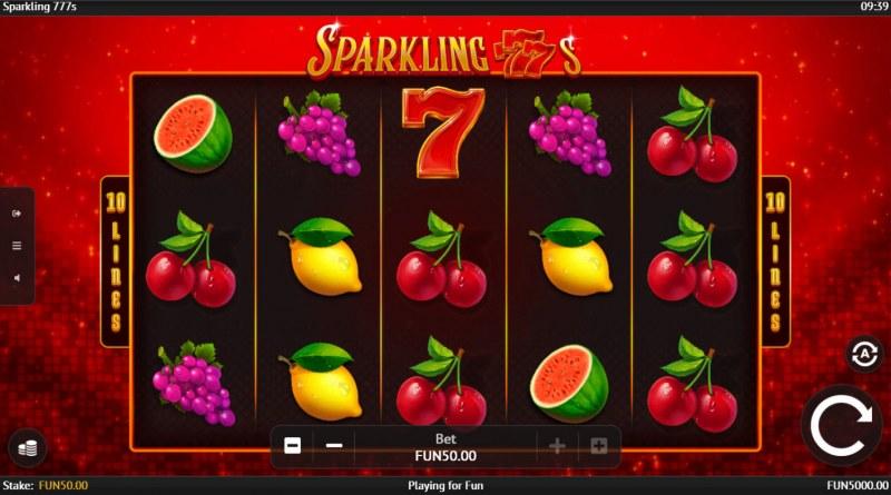 Sparkling 777s :: Base Game Screen