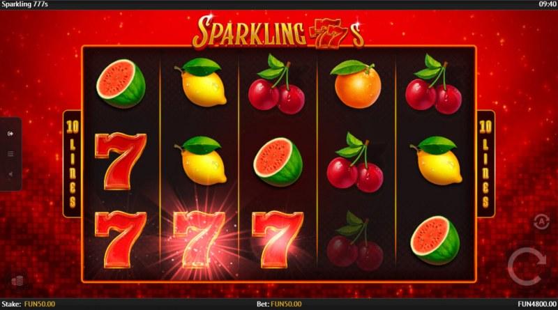 Sparkling 777s :: Random symbols are transformed into 7s