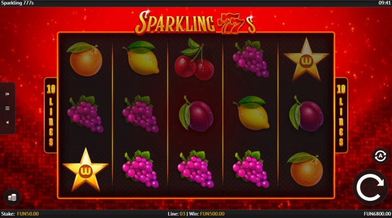 Sparkling 777s :: A four of a kind win