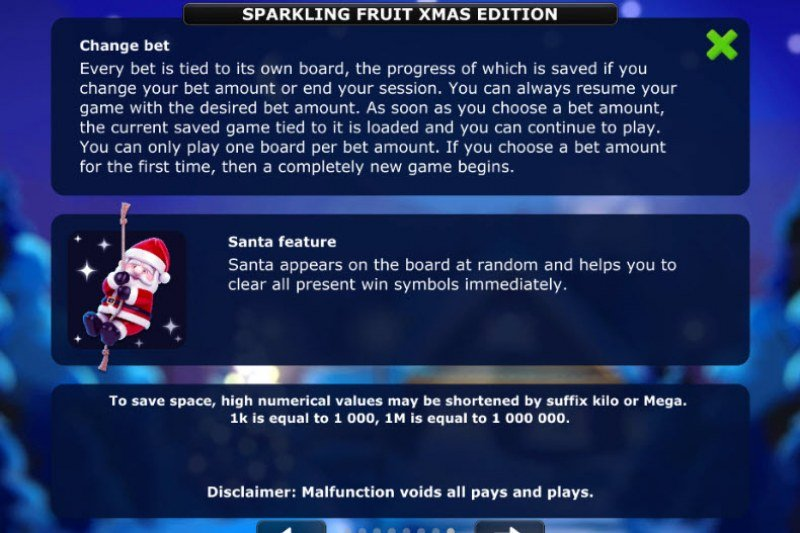 Sparkling Fruit Xmas Edition :: Feature Rules