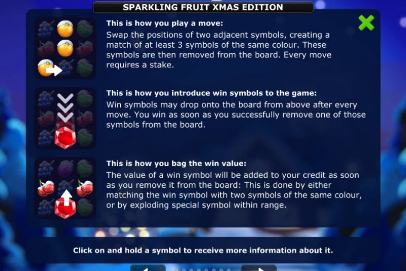 Sparkling Fruit Xmas Edition :: How To Play 1