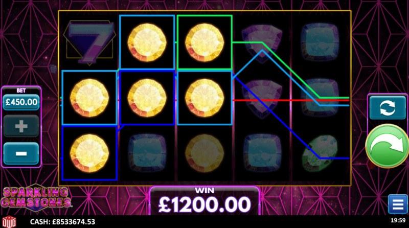 Sparkling Gemstones :: Multiple winning paylines