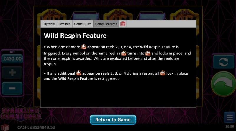 Sparkling Gemstones :: Wild Respin Feature
