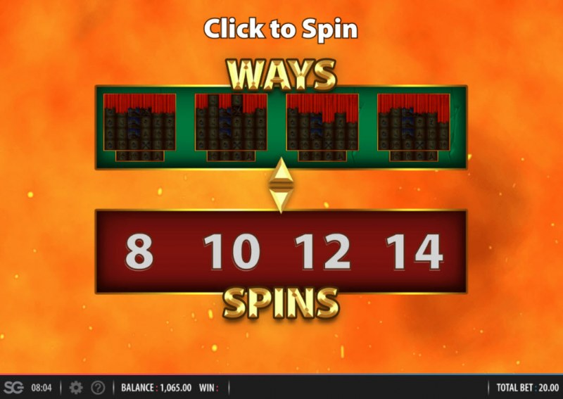 Spartacus Megaways :: Spin the reel to find out how many free spins you will play