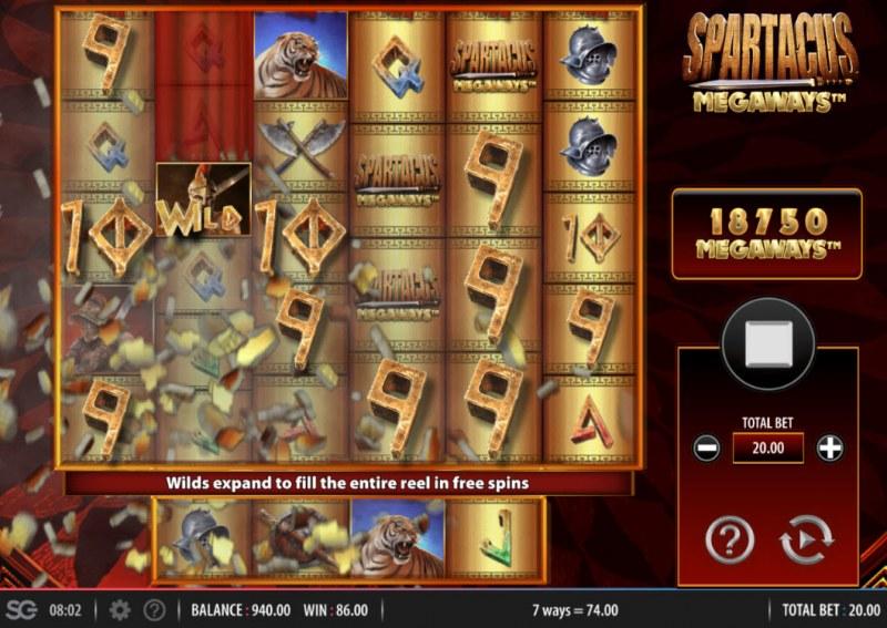 Spartacus Megaways :: 6 of a kind
