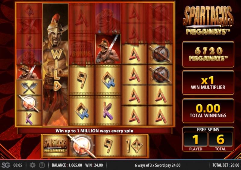 Spartacus Megaways :: Free Spins Game Board