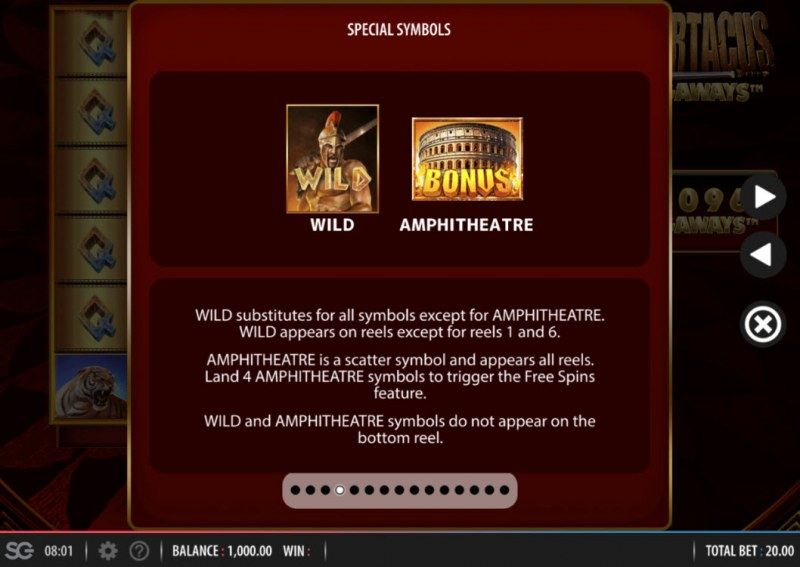 Spartacus Megaways :: Wild and Scatter Rules