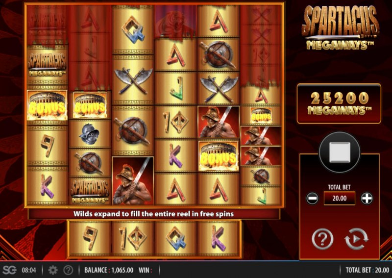Spartacus Megaways :: Scatter symbols triggers the free spins feature