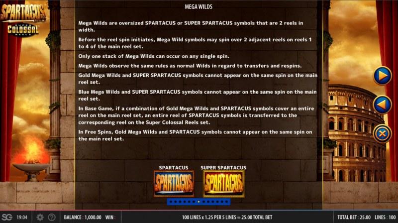 Spartacus Super Colossal Reels :: Mega Wilds