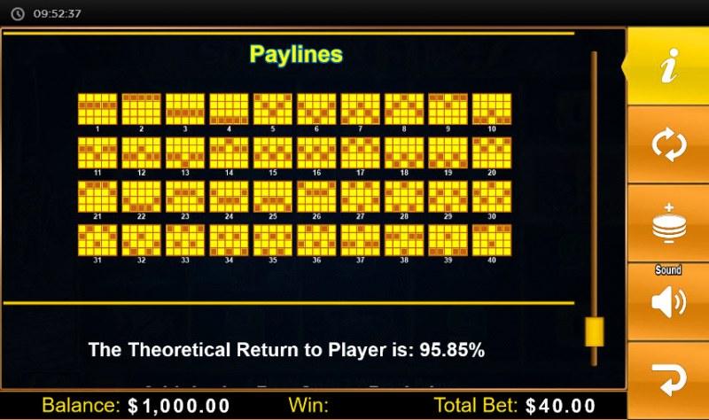 Spartan Fire :: Paylines 1-40