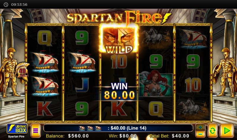 Spartan Fire :: Multiple winning paylines