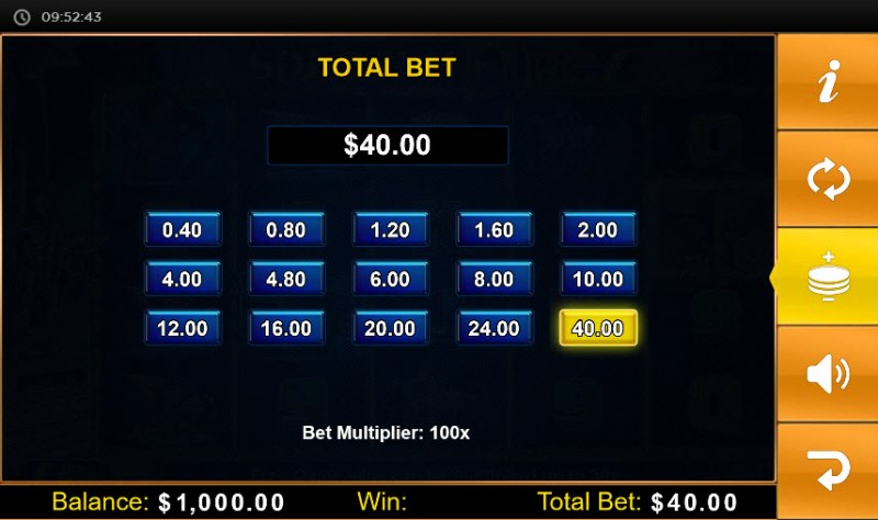 Spartan Fire :: Available Betting Options