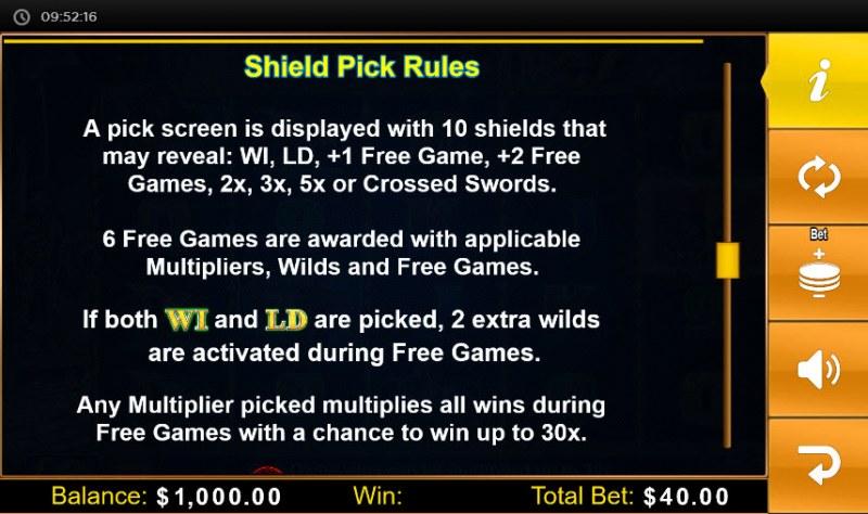Spartan Fire :: Shield Pick Rules