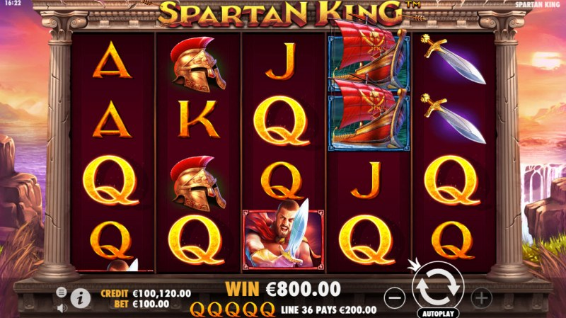 Spartan King :: A five of a kind win