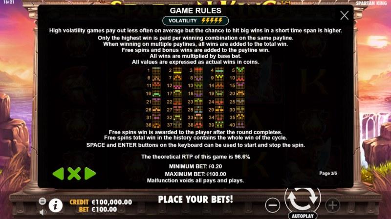Spartan King :: General Game Rules