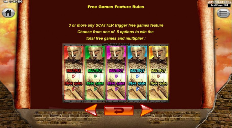 Spartan :: Free Spins Rules