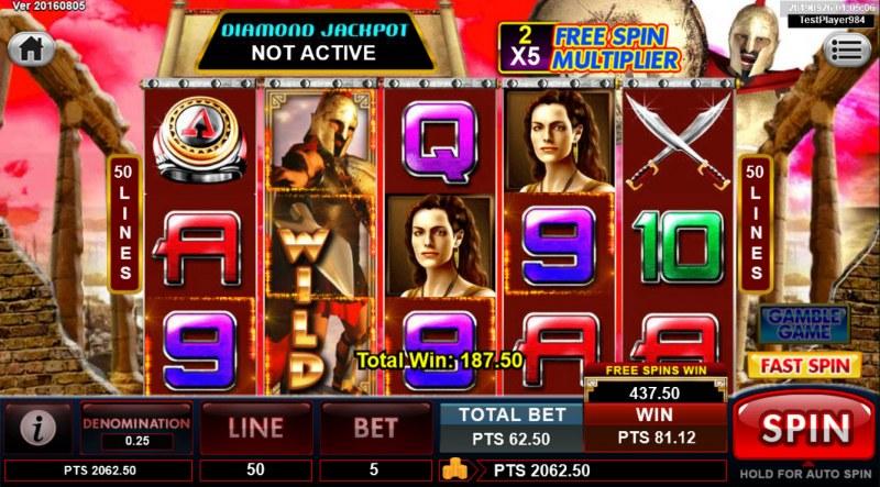 Spartan :: Multiple winning paylines