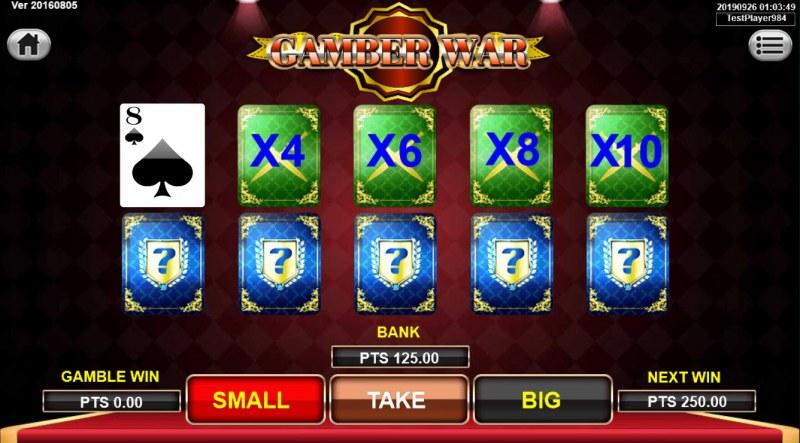 Spartan :: Gamble Feature Game Board