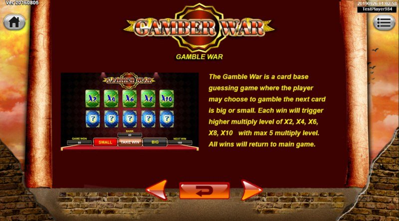 Spartan :: Gamble Feature Rules