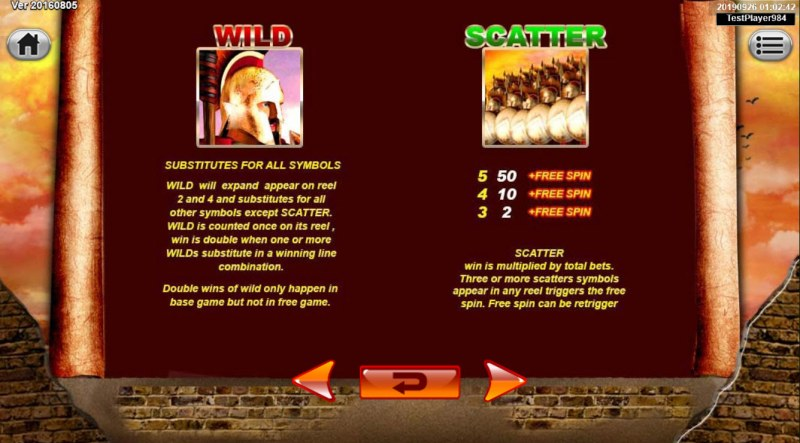 Spartan :: Wild and Scatter Rules