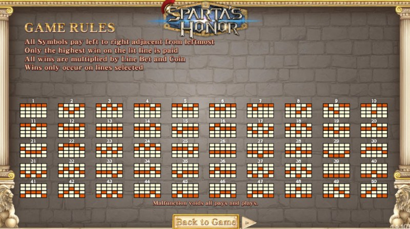 Sparta's Honor :: General Game Rules