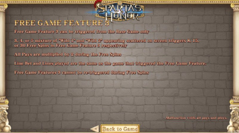 Sparta's Honor :: Feature Rules