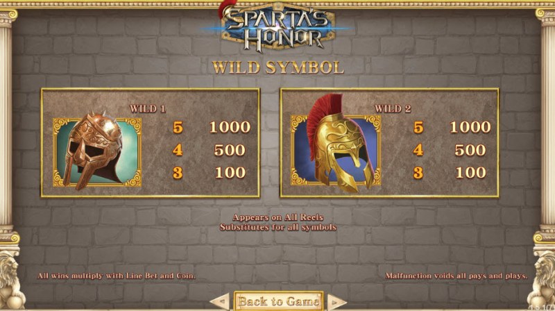 Sparta's Honor :: Wild Symbols Rules
