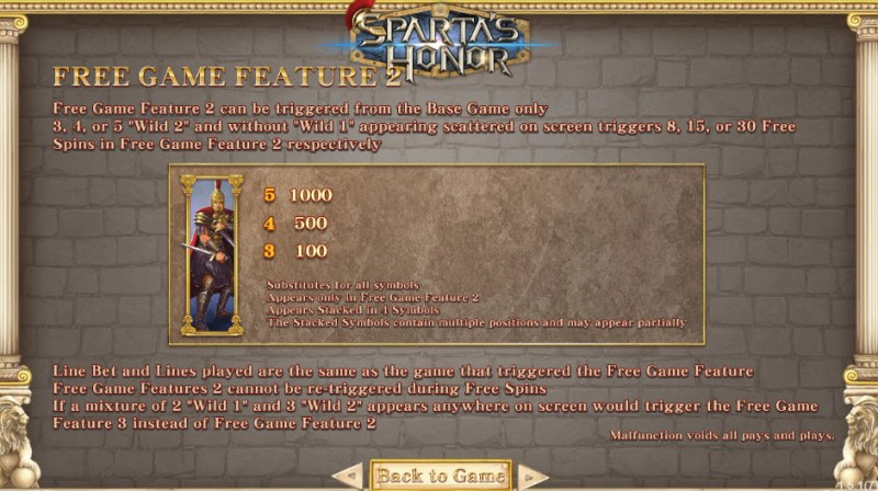 Sparta's Honor :: Free Spins Rules