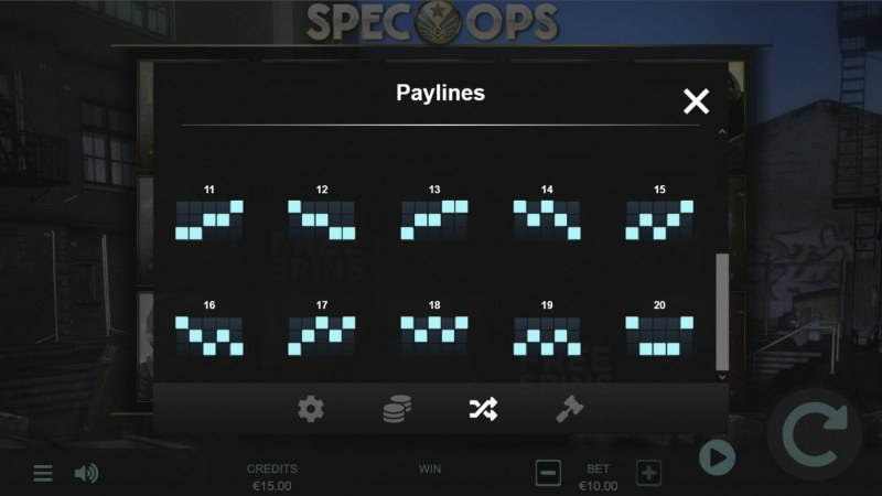 Spec-Ops :: Paylines 11-20