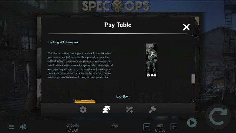 Spec-Ops :: Wild Symbol Rules