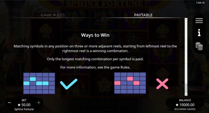 Sphinx Fortune :: 576 Ways to Win