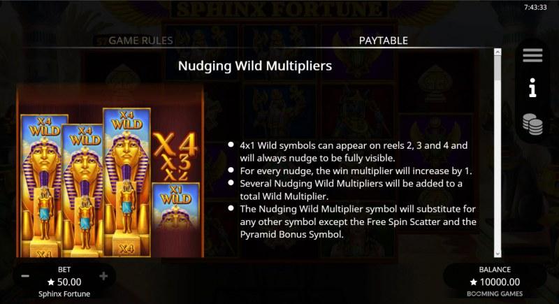 Sphinx Fortune :: Wild Symbol Rules