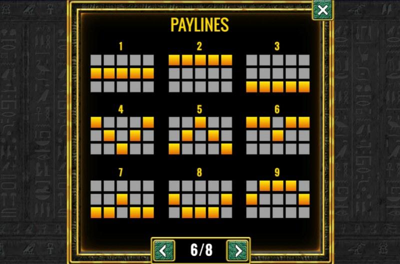 Sphinx :: Paylines 1-9