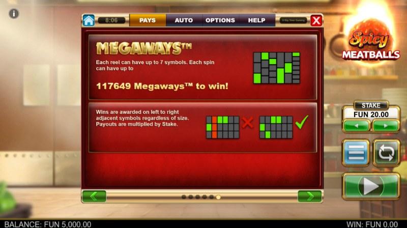 Spicy Meatballs Megaways :: 117649 Ways to Win
