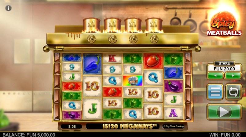Spicy Meatballs Megaways :: Base Game Screen