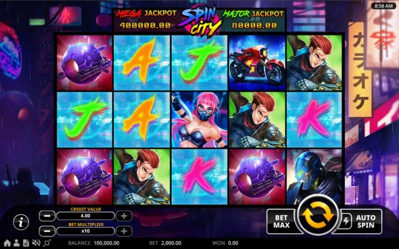 Spin City :: Main Game Board
