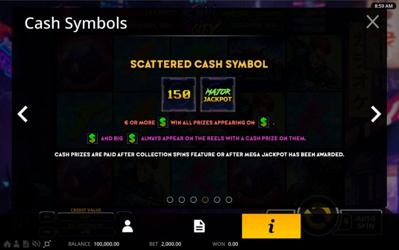Spin City :: Cash Symbols
