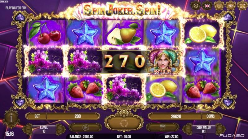 Spin Joker, Spin :: Multiple winning paylines