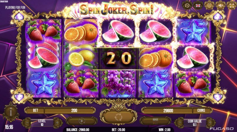 Spin Joker, Spin :: Game pays in both directions